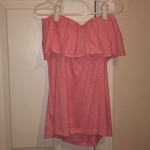 LILLY PULITZER PINK STRAPLESS TOP